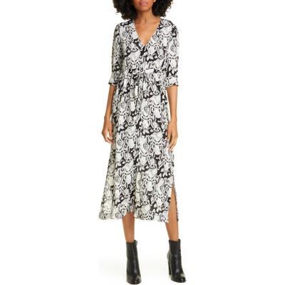 See By Chloe Heart Motif Midi Dress, 6 FR - Black