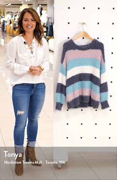 Stripe Eyelash Sweater, sales video thumbnail