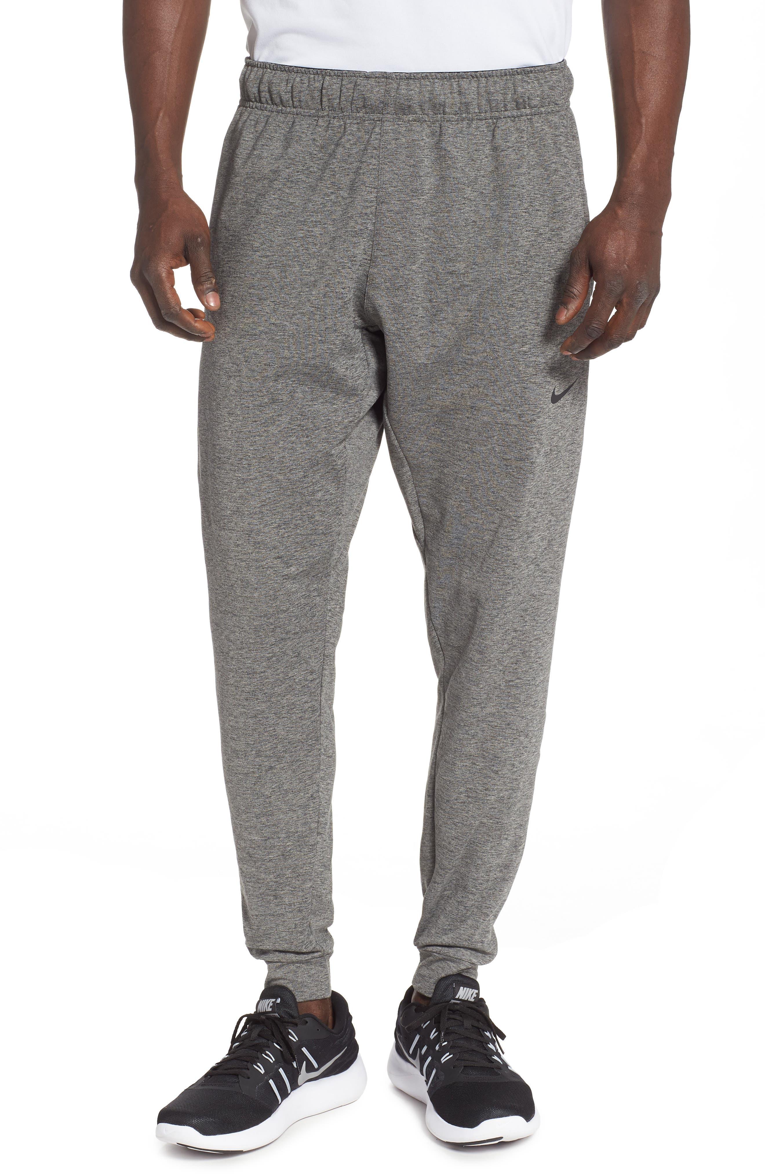 Transcend Dry Yoga Training Pants, Main, color, BLACK/ HEATHER/ BLACK