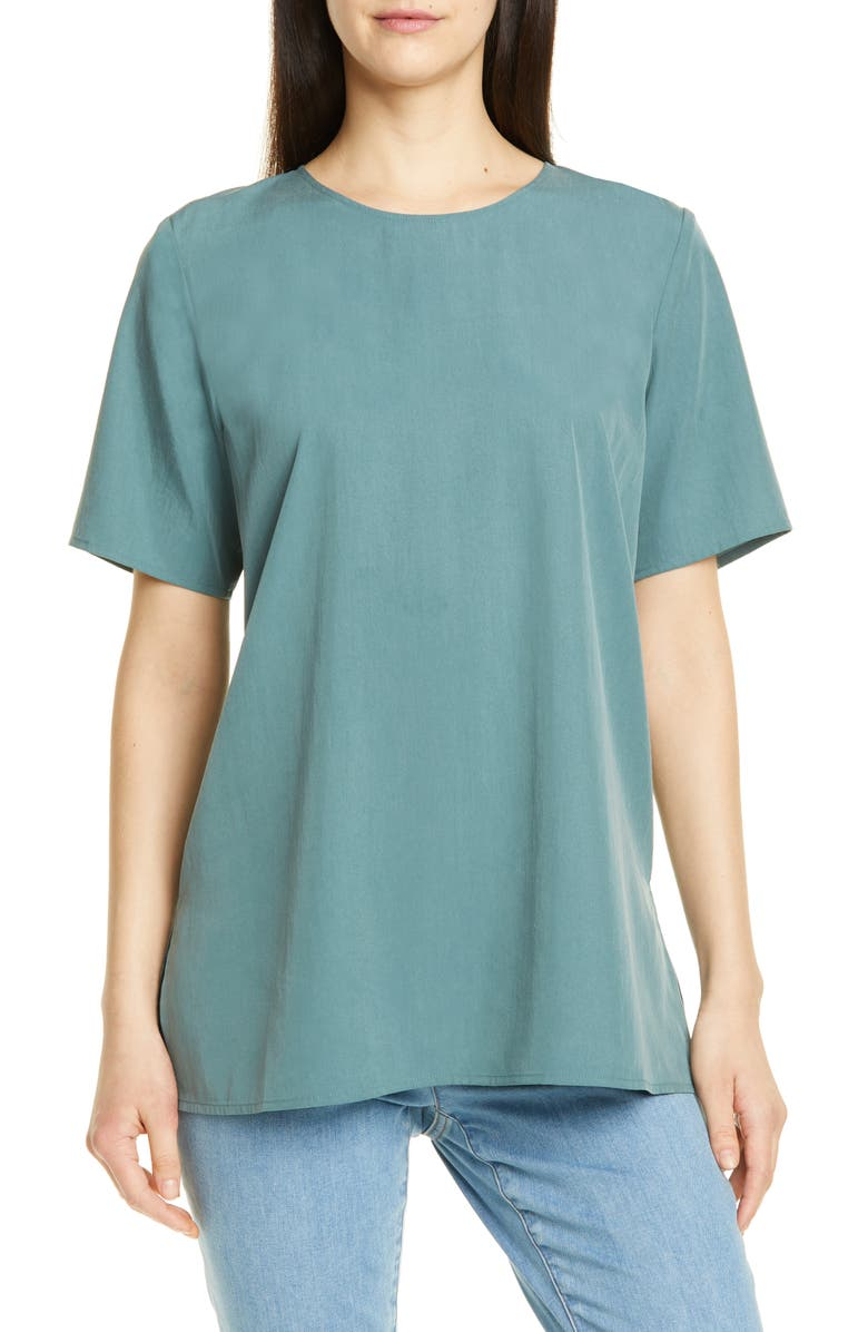 EILEEN FISHER Boxy Tee, Main, color, 440