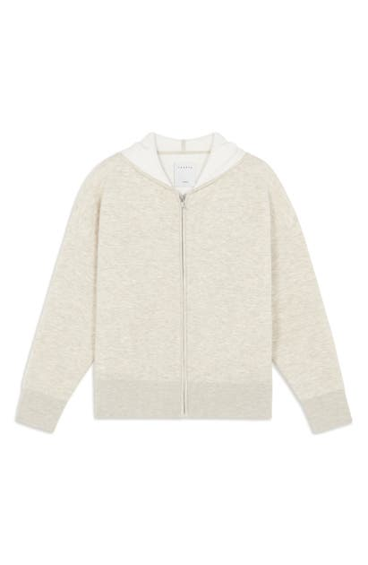 Sandro ZIP-UP HOODED CARDIGAN