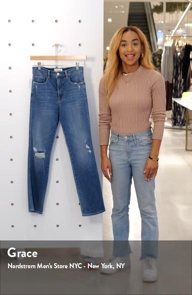 Le Sylvie High Waist Ripped Slender Straight Leg Jeans, sales video thumbnail