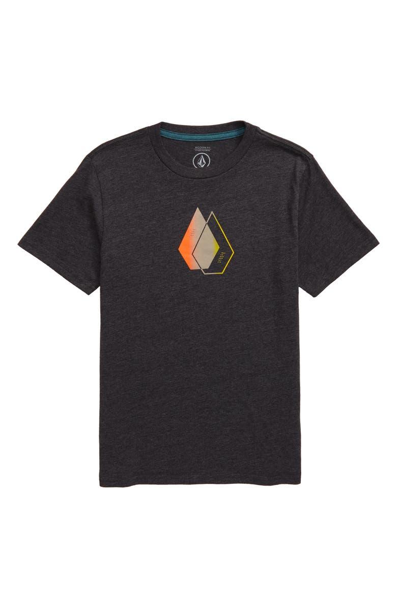 VOLCOM This Close Graphic T-Shirt, Main, color, HEATHER BLACK
