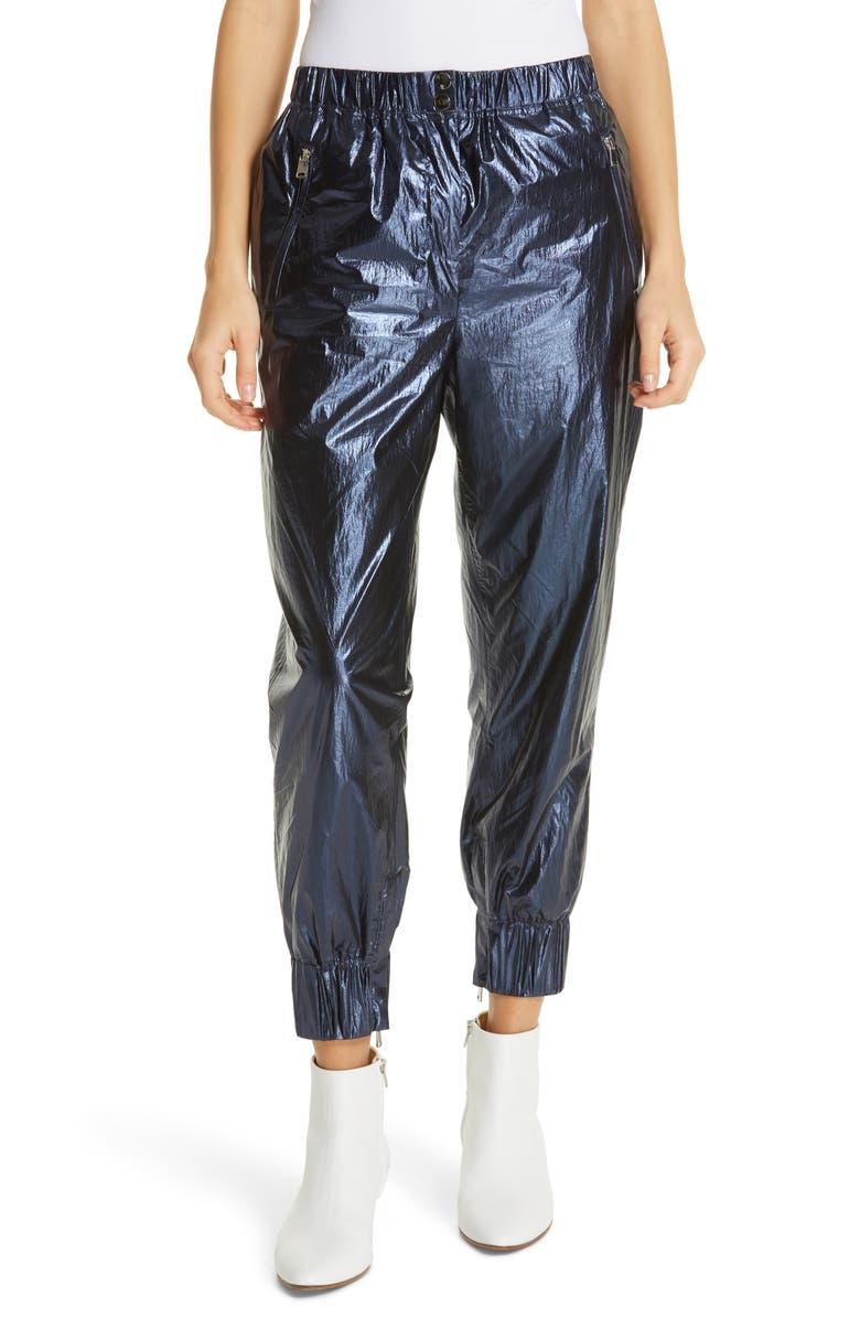 ROBERT RODRIGUEZ Olympia Metallic Track Pants, Main, color, 410