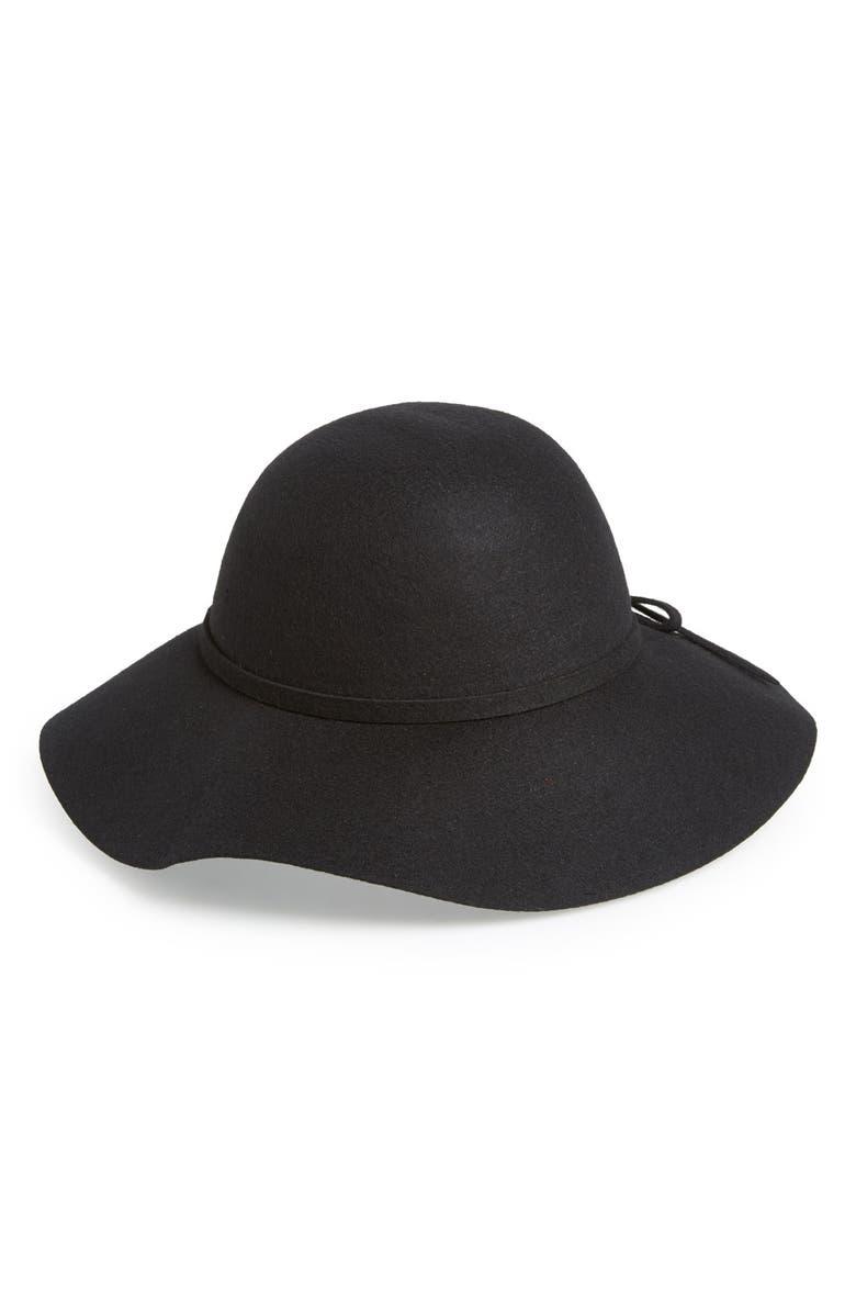 EMANUEL GERALDO Wool Felt Floppy Hat, Main, color, 001