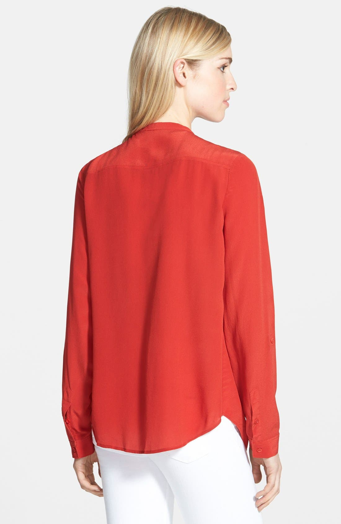 ,                             Collarless Silk Blouse,                             Alternate thumbnail 75, color,                             612