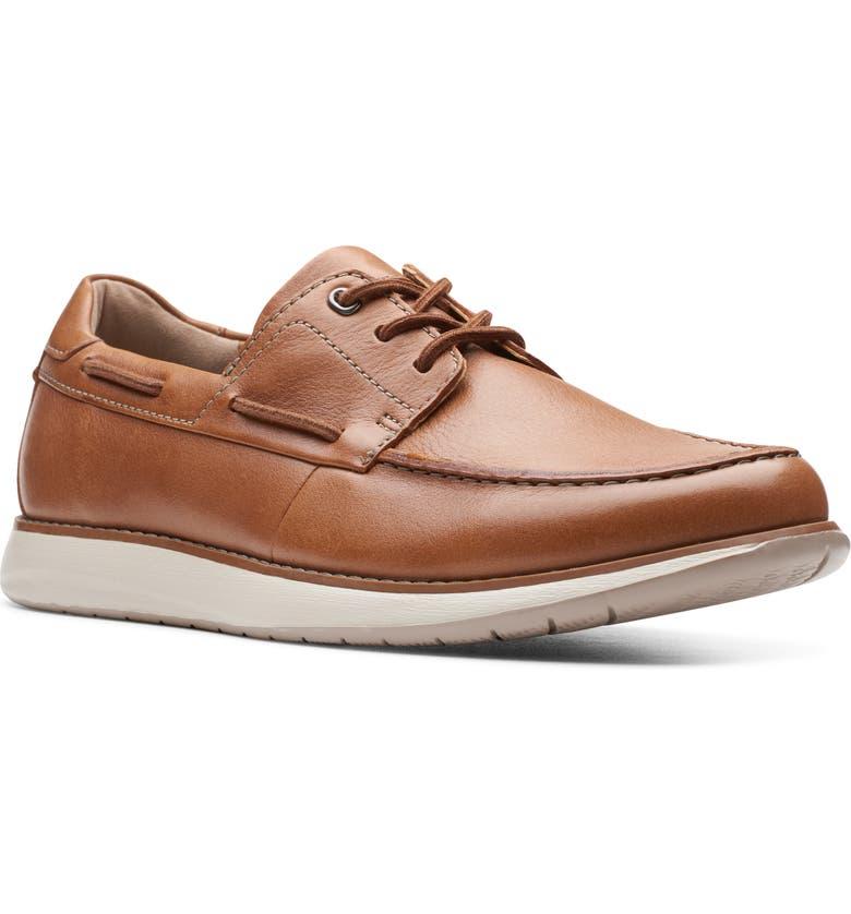 CLARKS<SUP>®</SUP> Un Pilot Boat Shoe, Main, color, TAN LEATHER