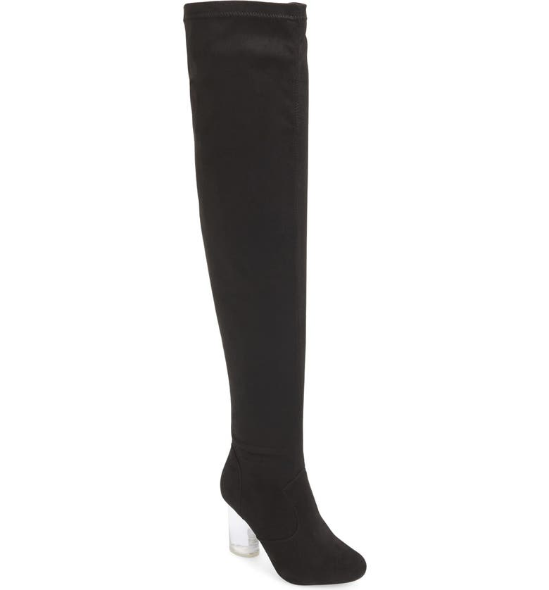JEFFREY CAMPBELL 'Paradox' Over the Knee Boot, Main, color, 004