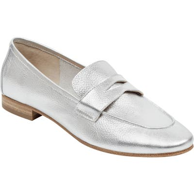 Marc Fisher Ltd Chang Penny Loafer, Metallic
