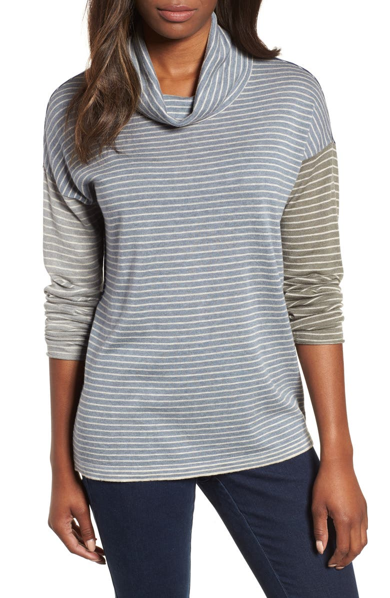NIC+ZOE Tranquil Stripe Top, Main, color, MULTI