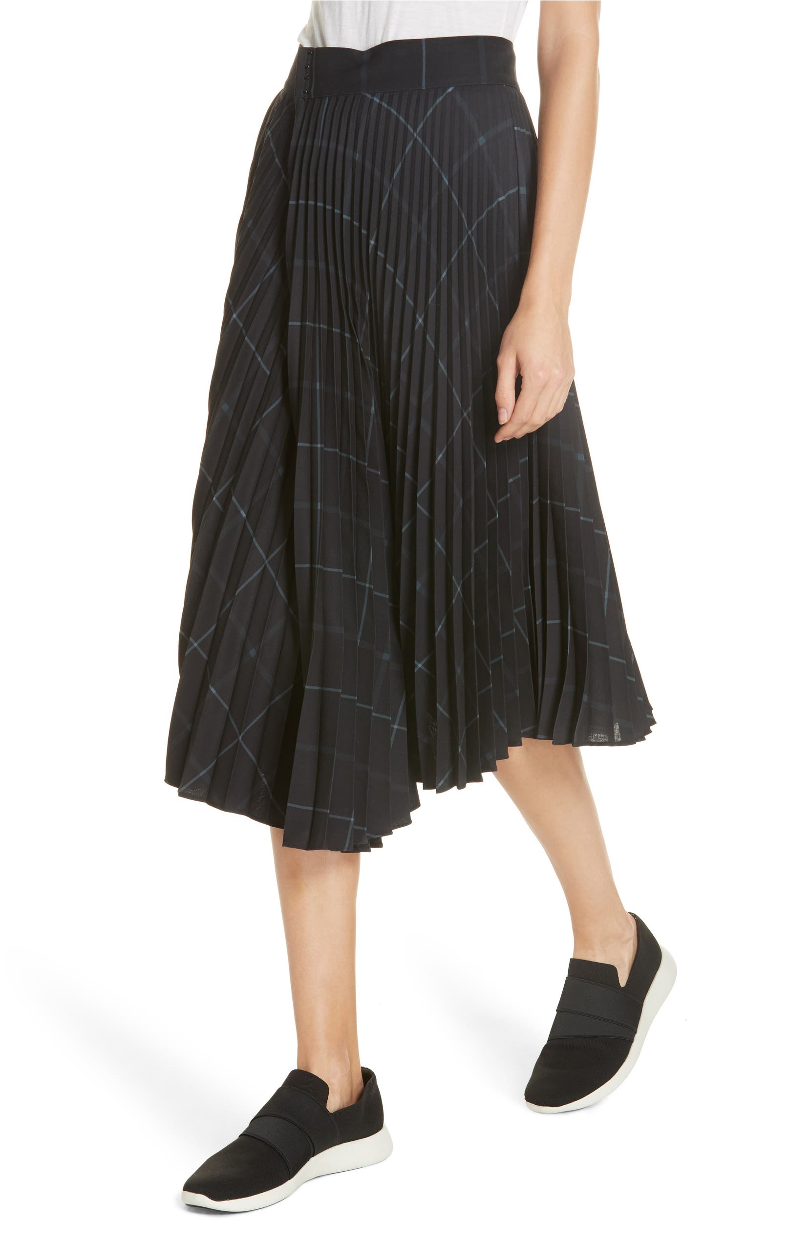 8377fefccd Vince Grid Plaid Draped Pleat Skirt | Nordstrom