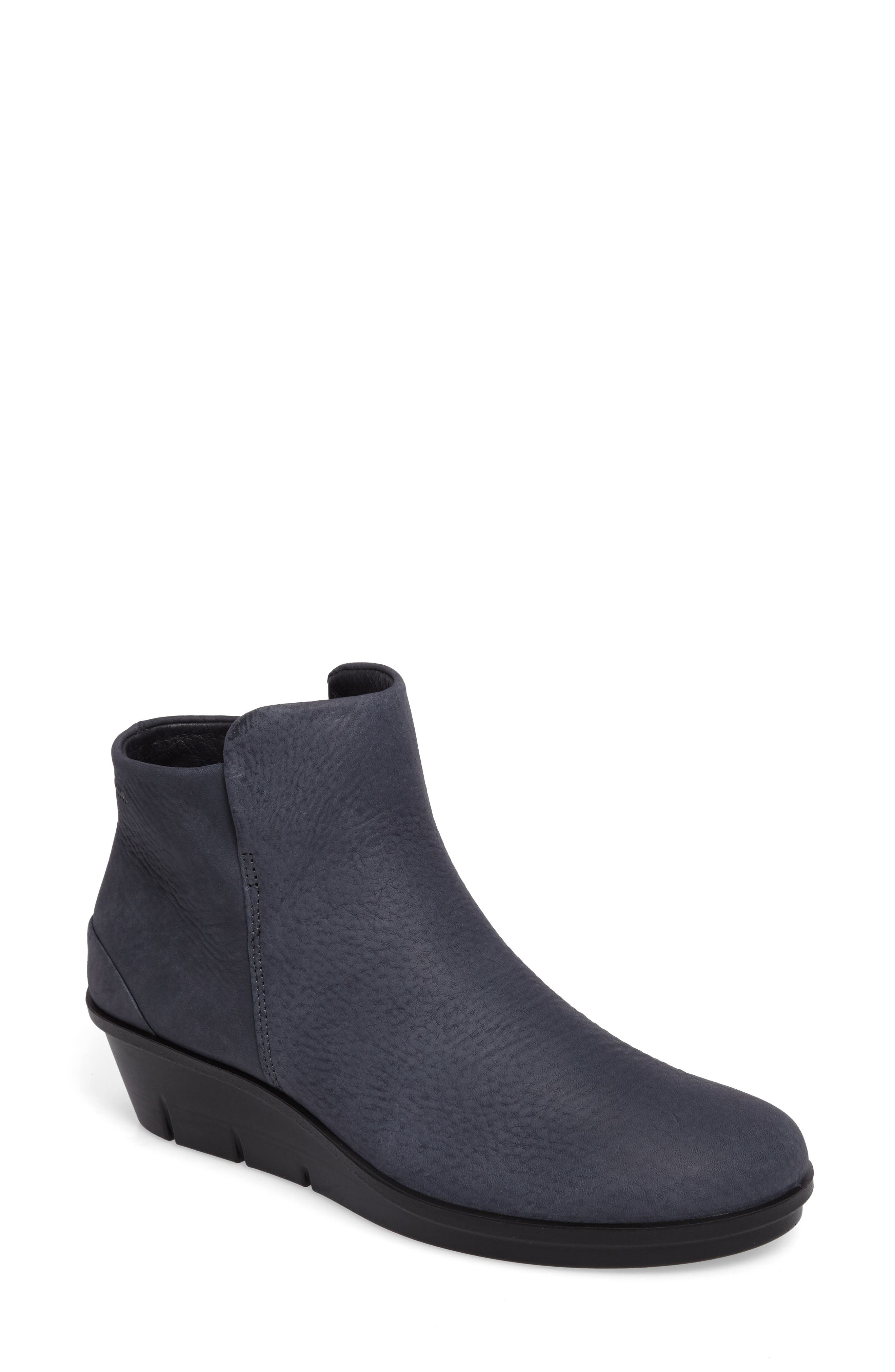 Ecco Skyler Wedge Boot, Blue