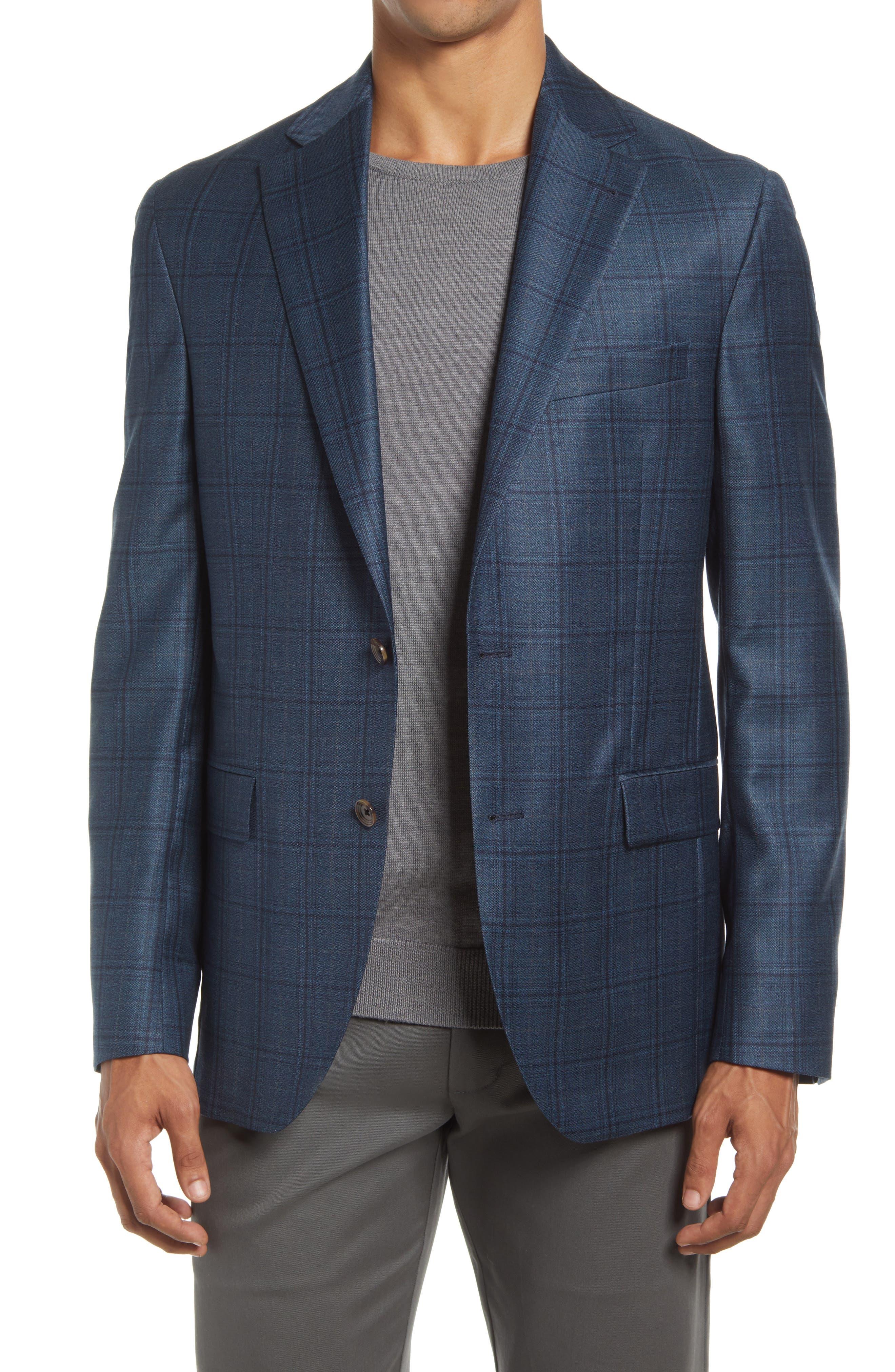 Midland Plaid Stretch Wool Sport Coat