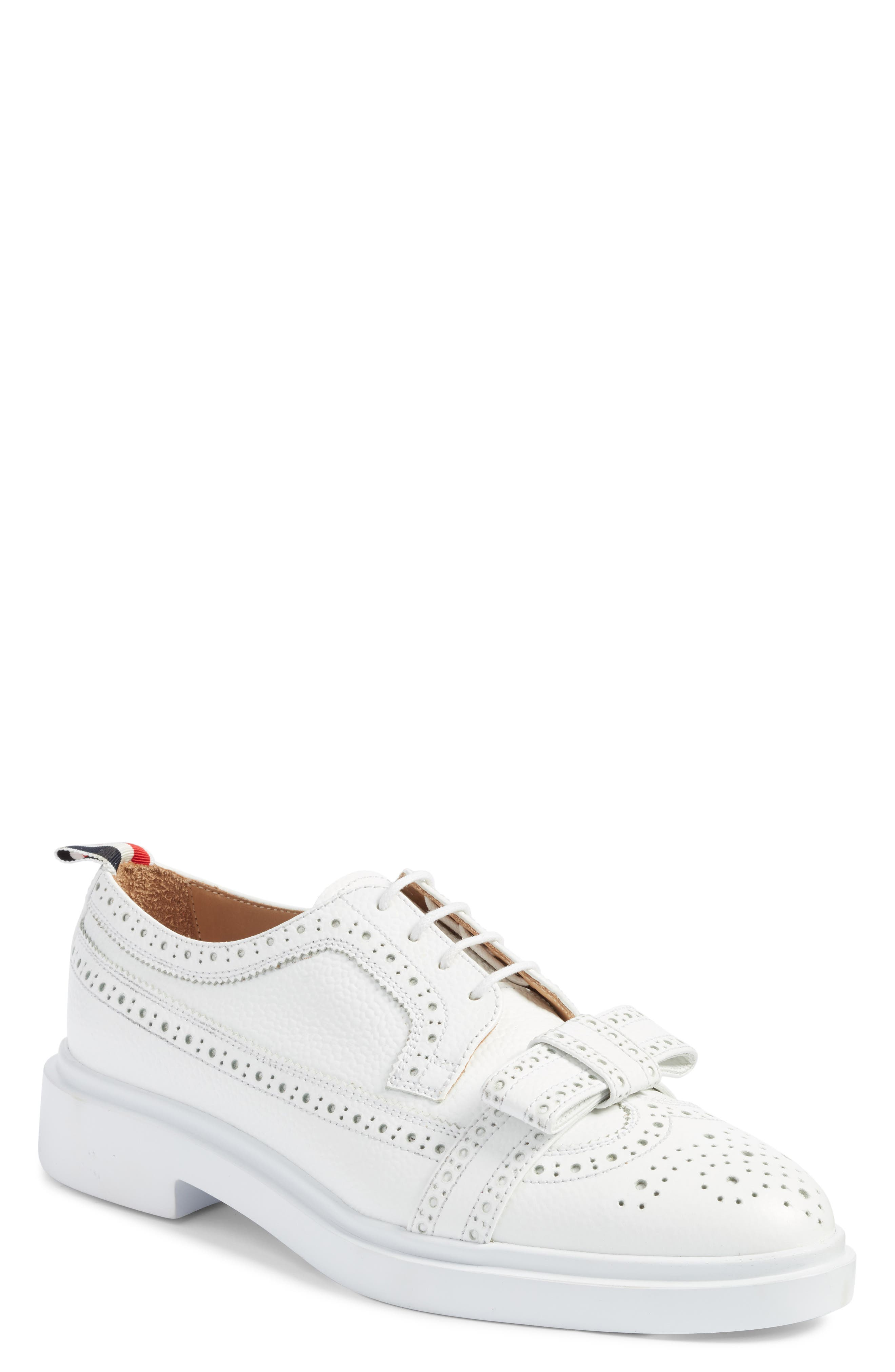 Thom Browne Bow Brogued Oxford, White