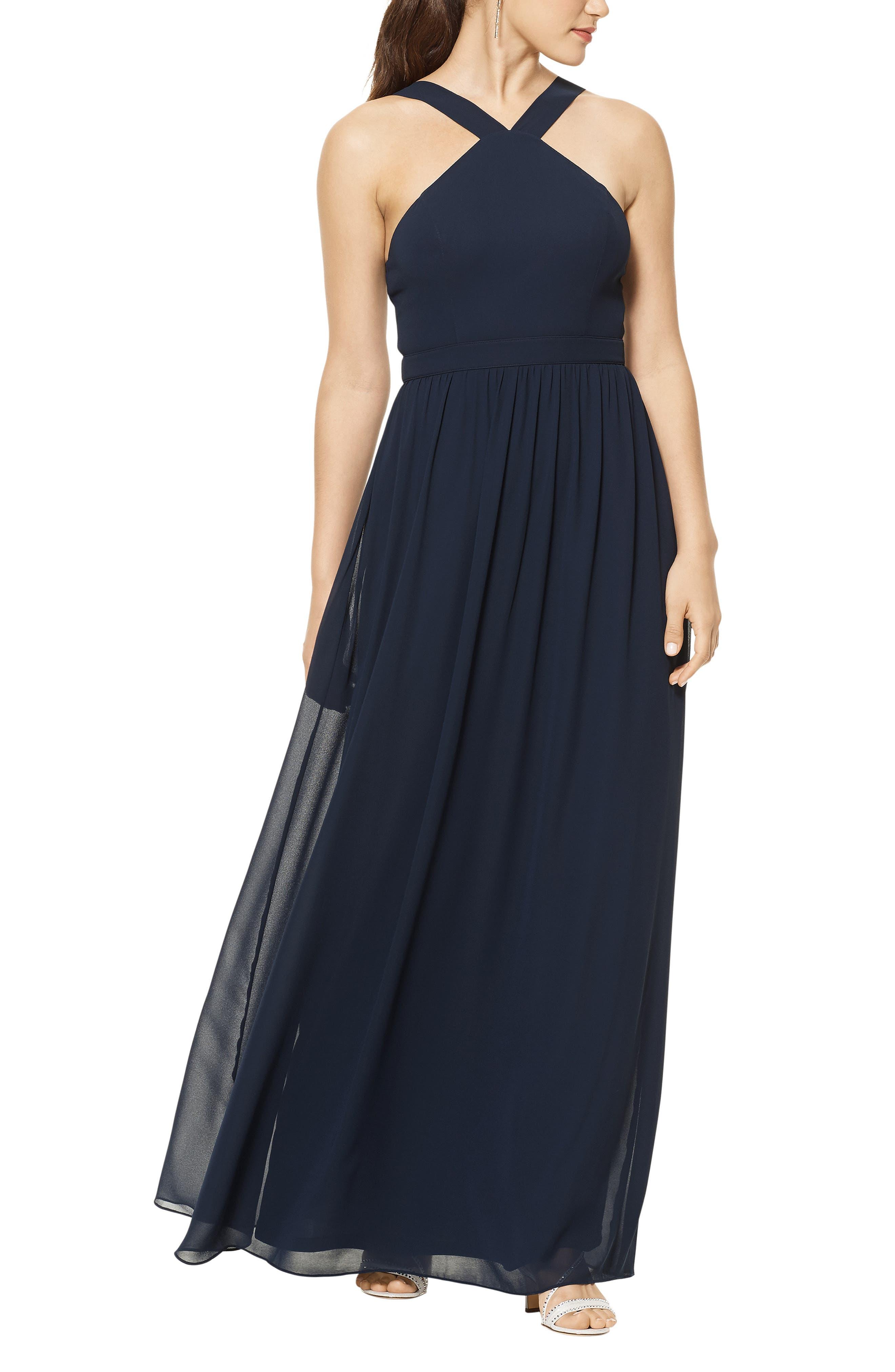 Halter Chiffon A-Line Gown