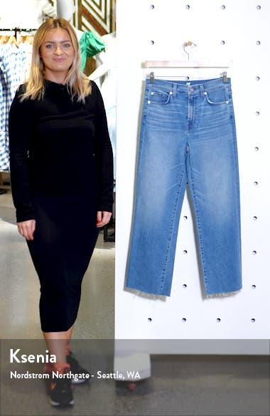 Alexa Cutoff Hem Crop Wide Leg Jeans, sales video thumbnail