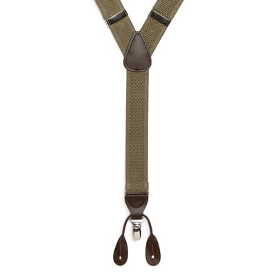 Nordstrom Shop Convertible Stretch Suspenders, Size One Size - Tan Doeskin