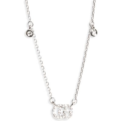 Gucci Double-G Diamond Pendant Necklace