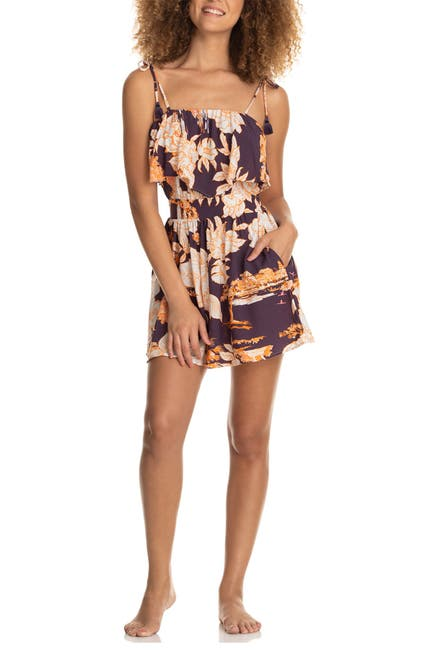 Image of Maaji Trapeze Floral Cover-Up Romper