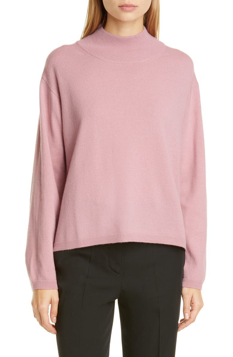 MANSUR GAVRIEL Wool & Cashmere Mock Neck Sweater, Main, color, 660