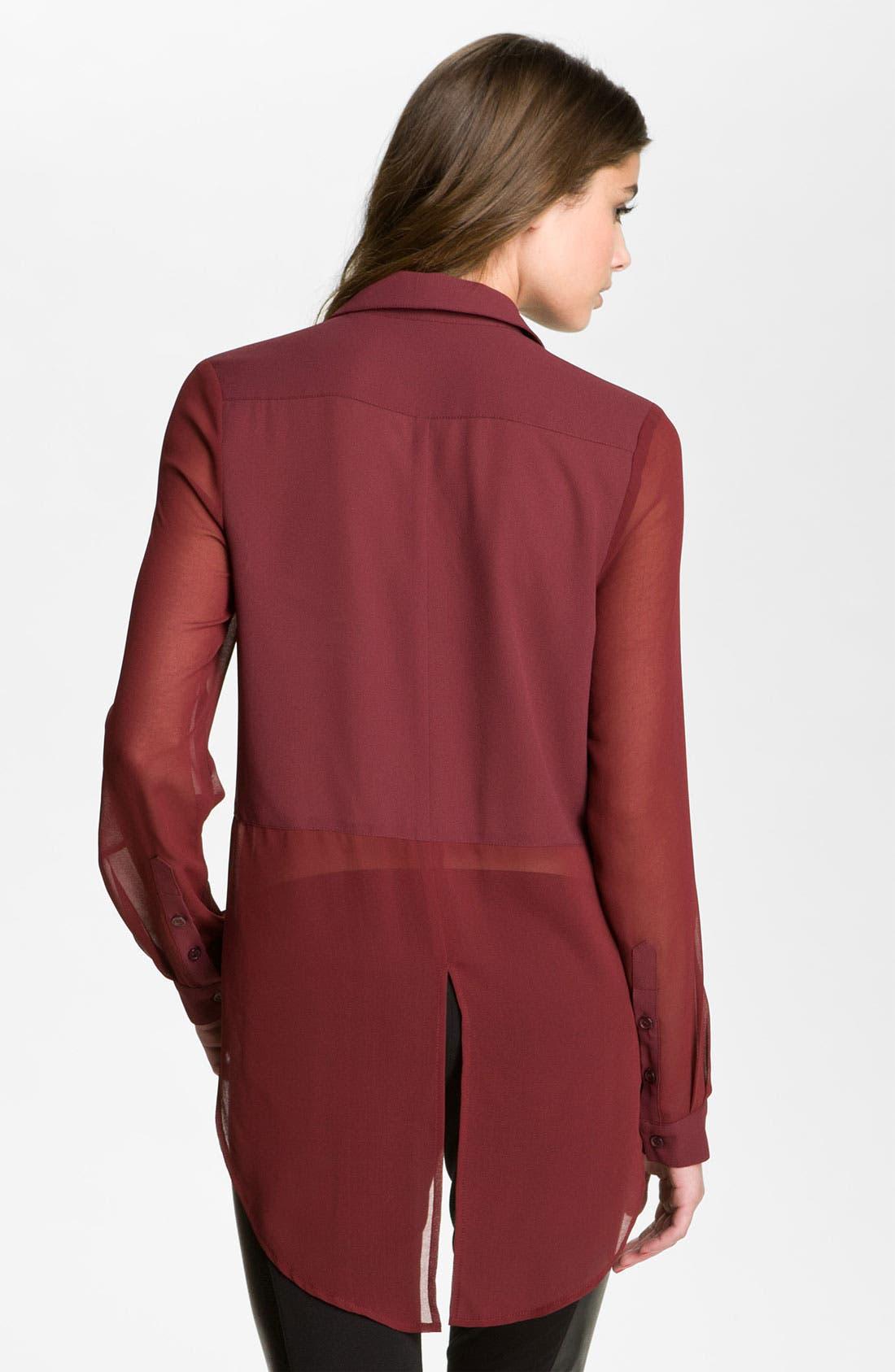 ,                             Lush Sheer Panel High/Low Shirt,                             Alternate thumbnail 27, color,                             930