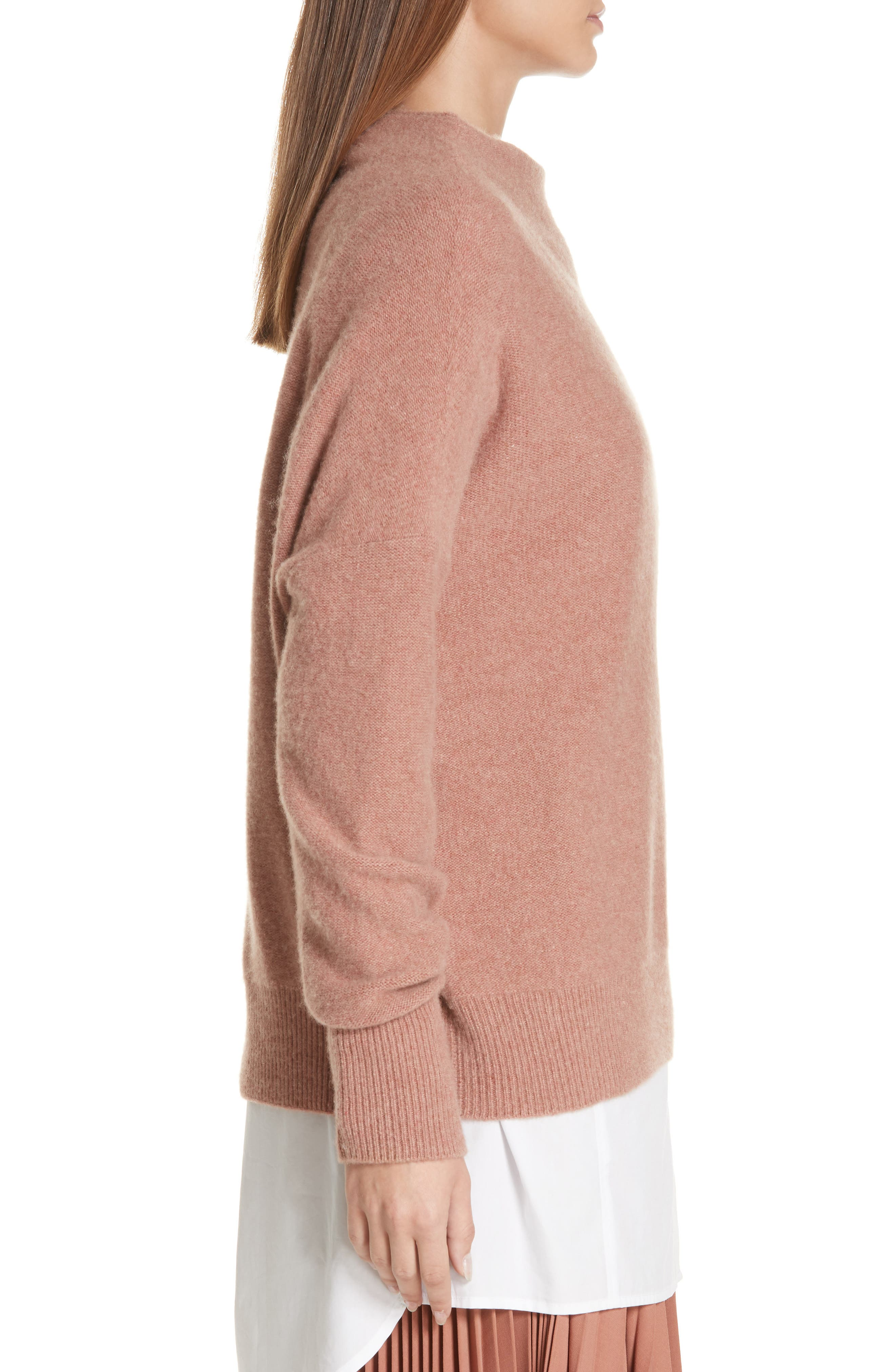 ,                             Funnel Neck Cashmere Sweater,                             Alternate thumbnail 17, color,                             690