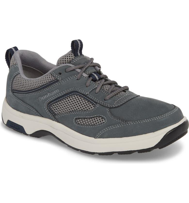 DUNHAM 8000 Uball Sneaker, Main, color, GREY NUBUCK LEATHER