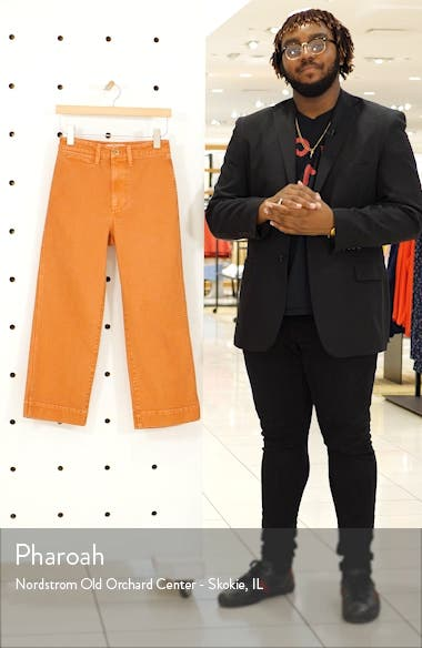Slim Emmett Wide Leg Crop Pants, sales video thumbnail