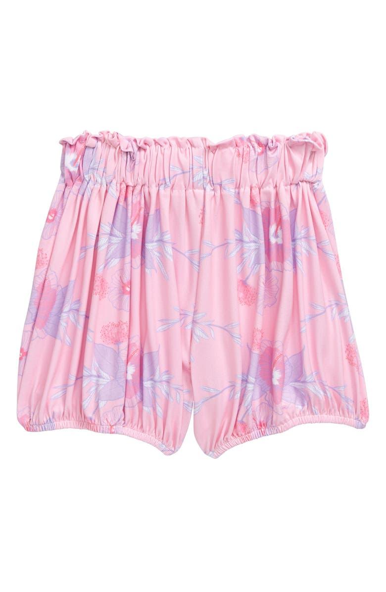 SWEET SWEET HONEY Hawaii Spring Hibiscus Shorts, Main, color, PINK