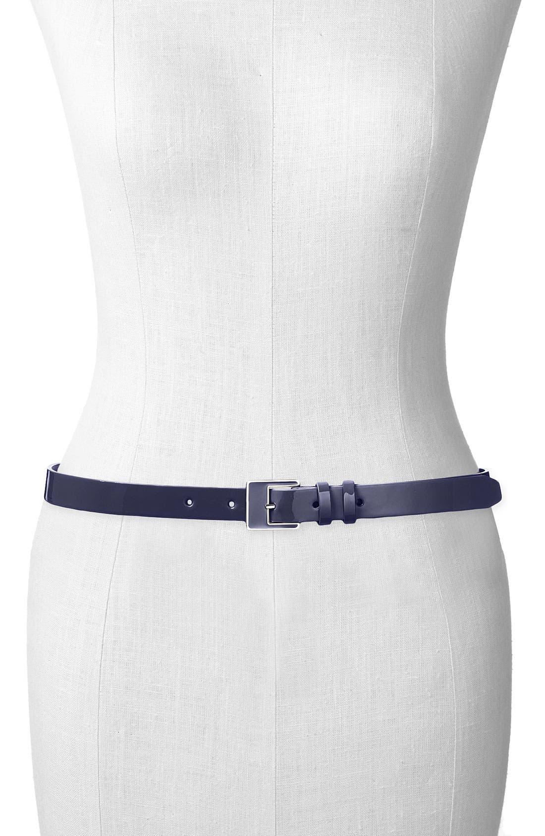 ,                             Patent Leather Belt,                             Main thumbnail 4, color,                             400