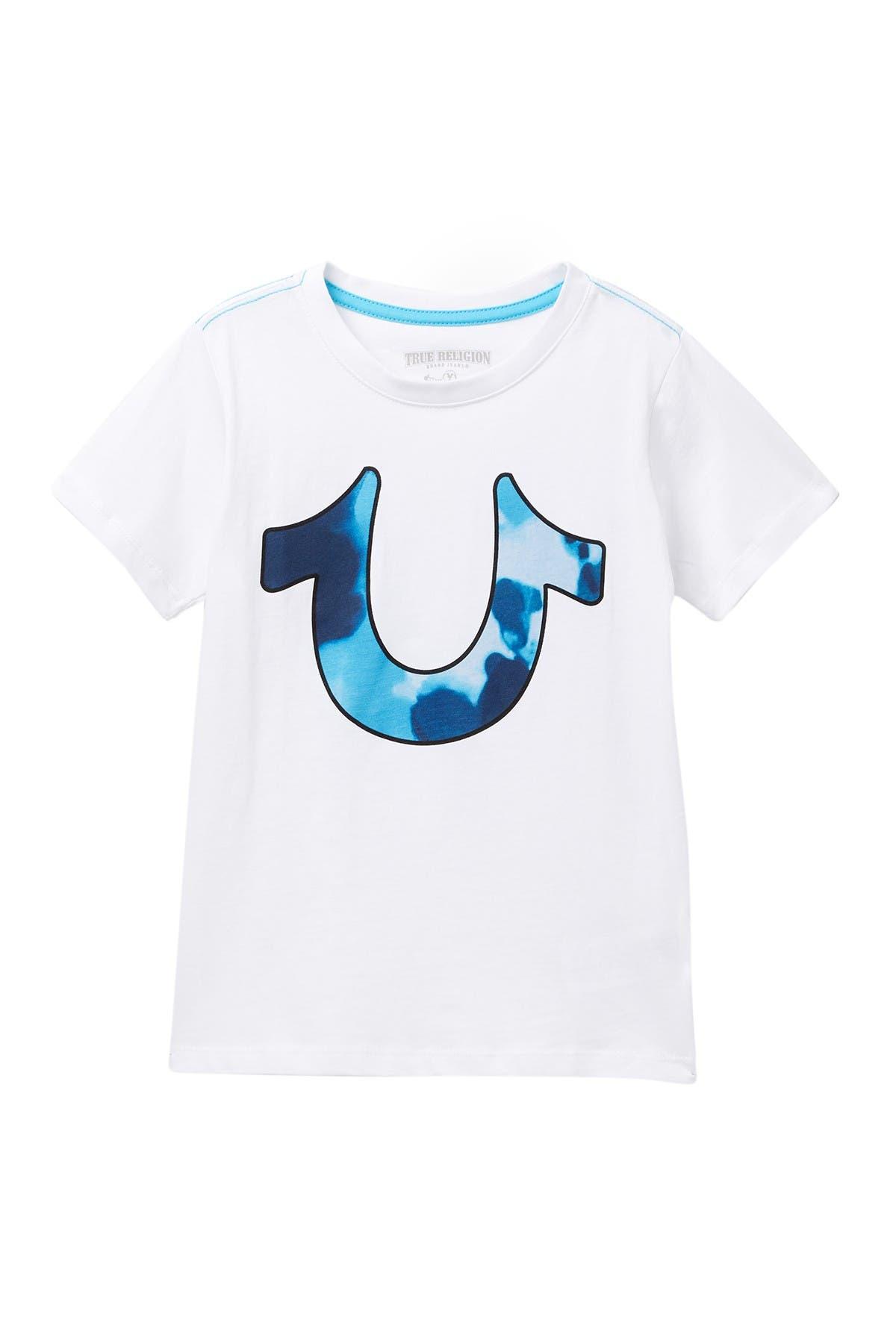 Image of True Religion Tie Dye Horse Shoe T-Shirt