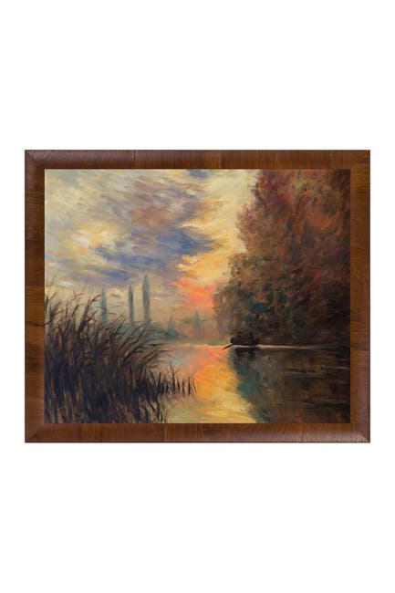 Image of Overstock Art Evening at Argenteuil by Claude Monet Framed Hand Painted Oil Reproduction