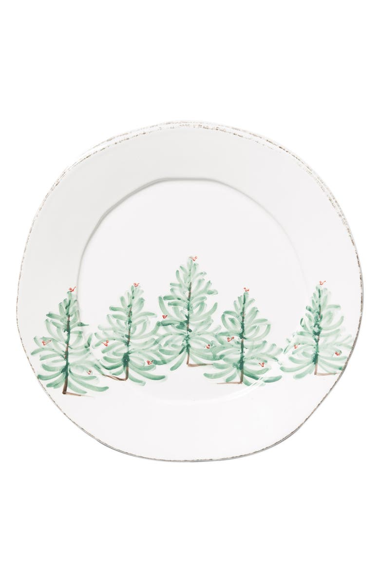 VIETRI Lastra Holiday Round Platter, Main, color, MULTI