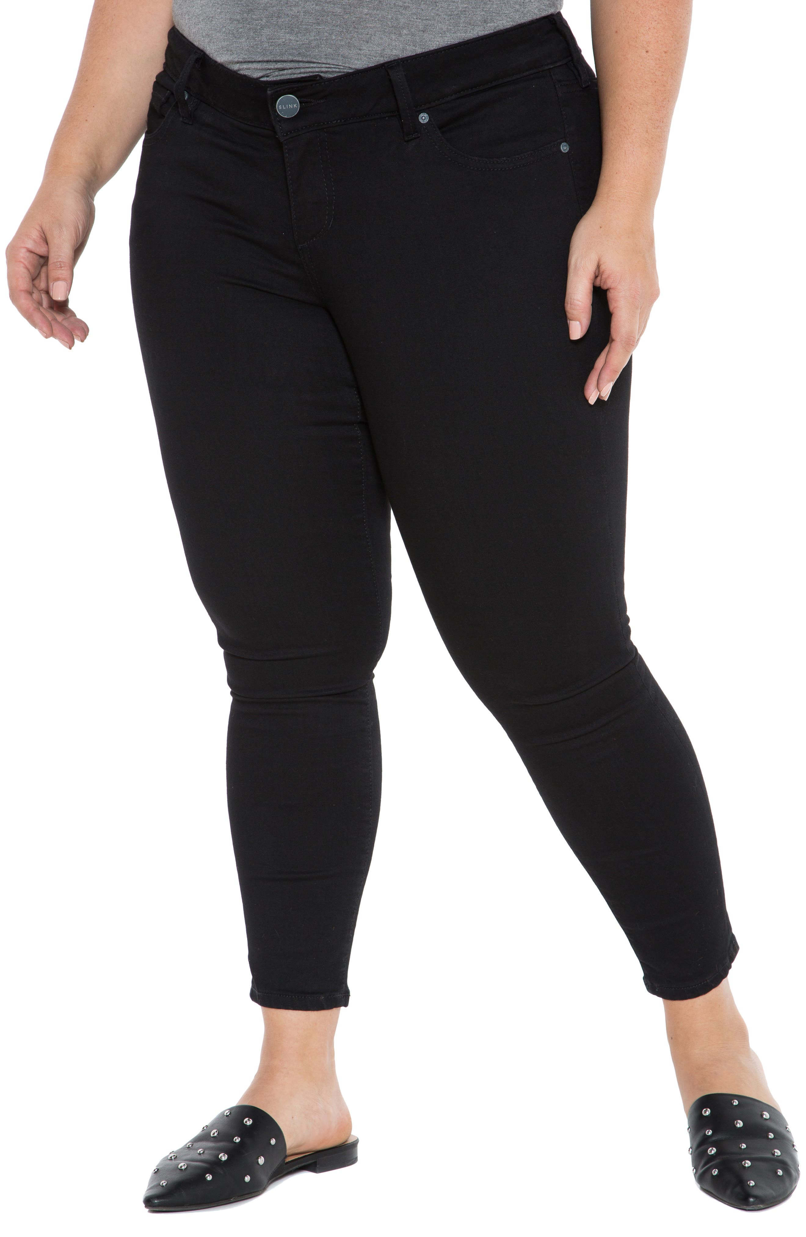 Plus Women's Slink Jeans Stretch Ankle Skinny Jeans