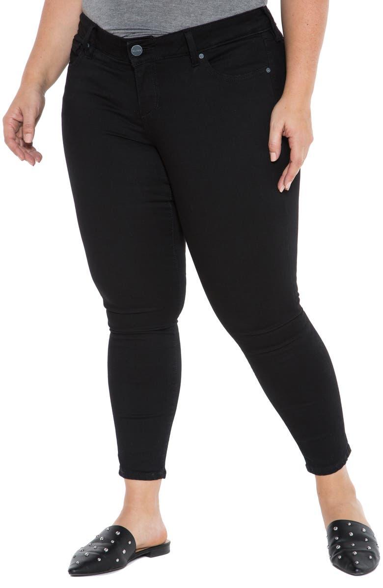 SLINK JEANS Stretch Ankle Skinny Jeans, Main, color, 001