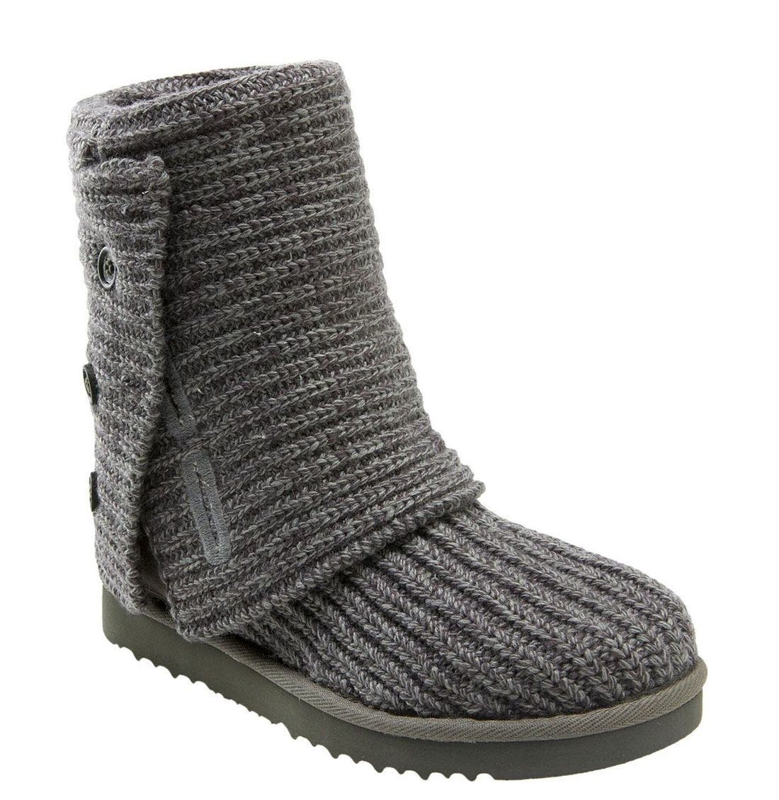 ,                             'Cardy' Classic Knit Boot,                             Main thumbnail 72, color,                             GRY