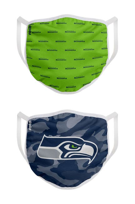 Image of FOCO NFL Seattle Seahawks Clutch Printed Face Cover - Pack of 2