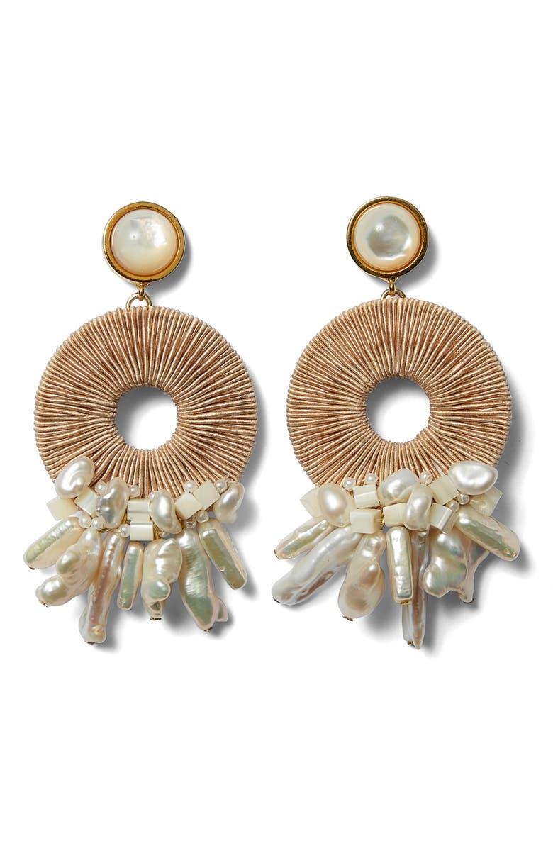 LIZZIE FORTUNATO Ischia Drop Earrings, Main, color, 100