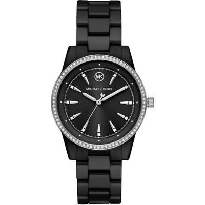Michael Kors Ritz Pave Ceramic Bracelet Watch, 37mm