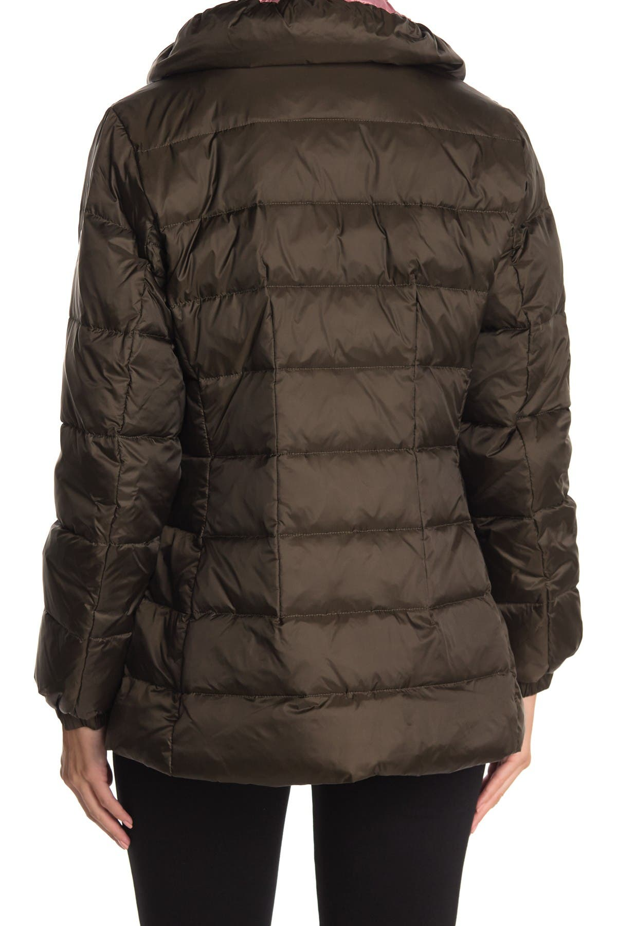 Kate spade new york hooded mid-weight zip down puffer jacket