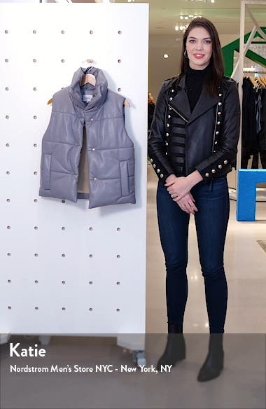 Morillo Vegan Leather Puffer Vest, sales video thumbnail