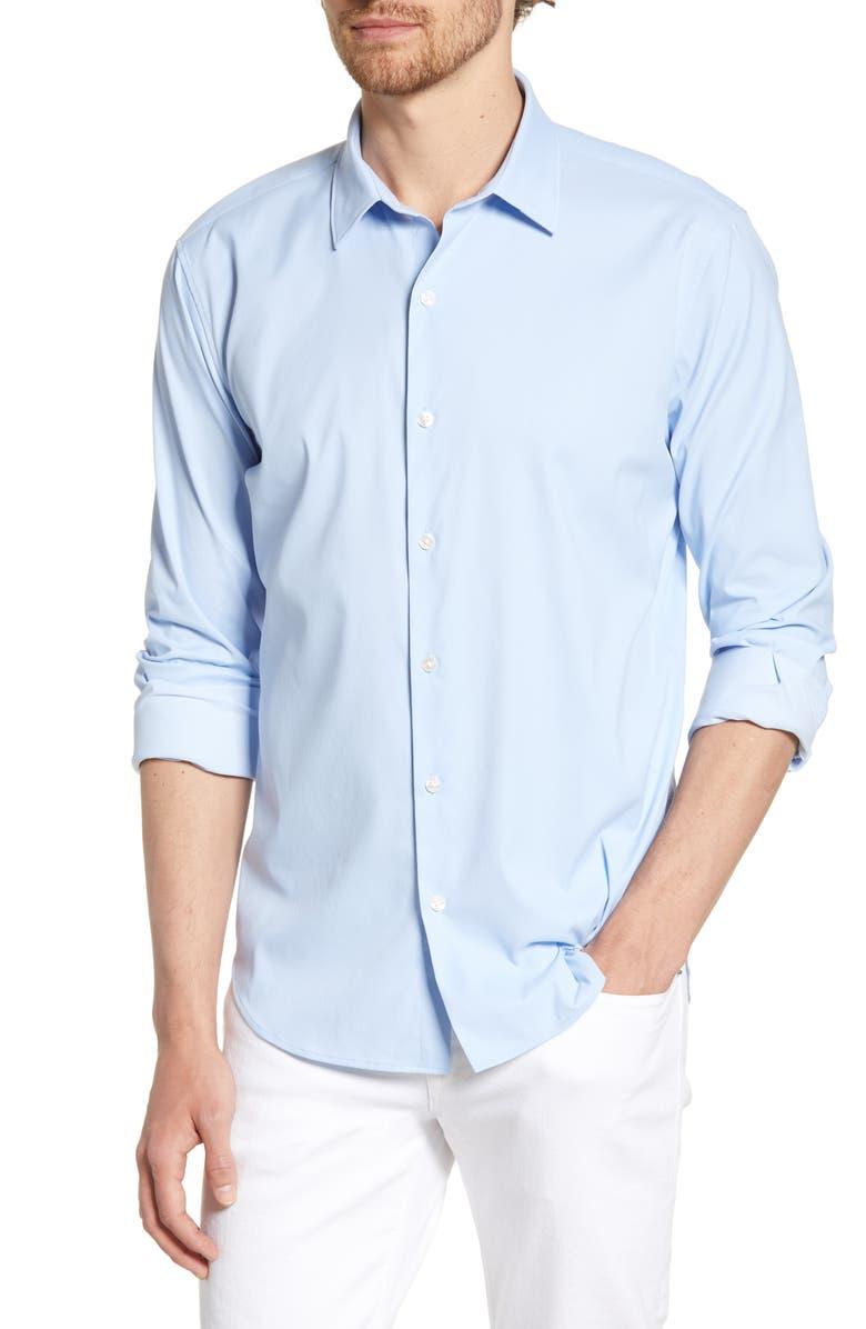 BONOBOS Slim Fit Tech Shirt, Main, color, CANNES BLUE