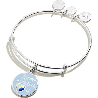 Alex And Ani Home Is Where The Heart Is Adjustable Wire Bangle