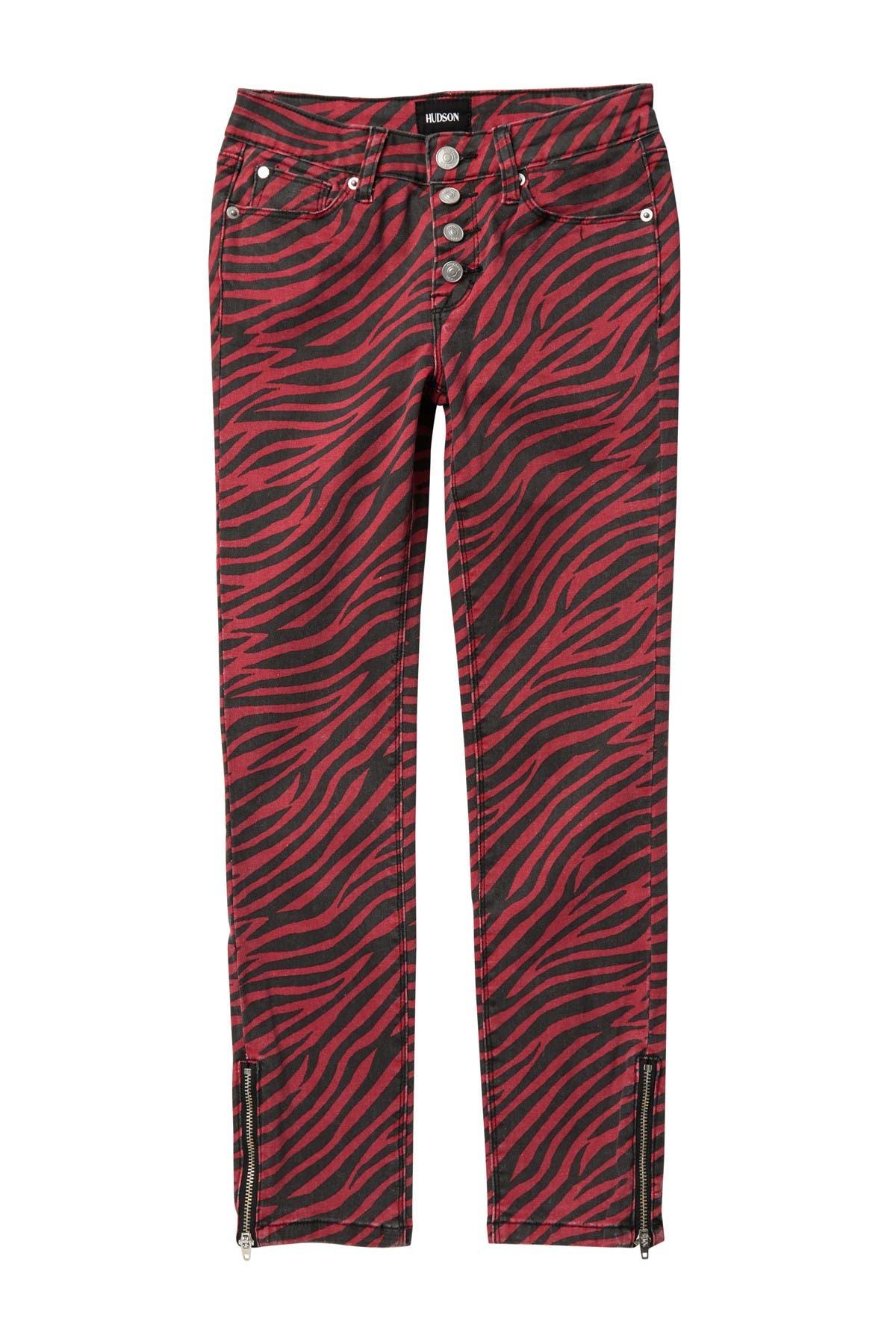 Image of HUDSON Jeans Zebra Skinny Jeans