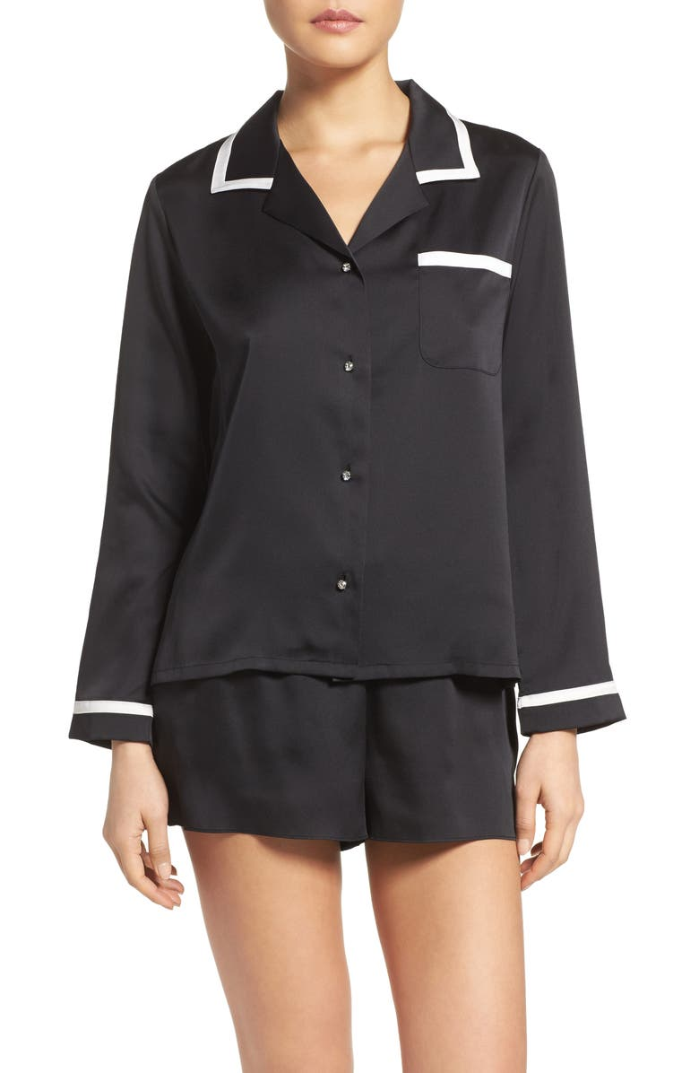 KATE SPADE NEW YORK satin pajamas, Main, color, 001
