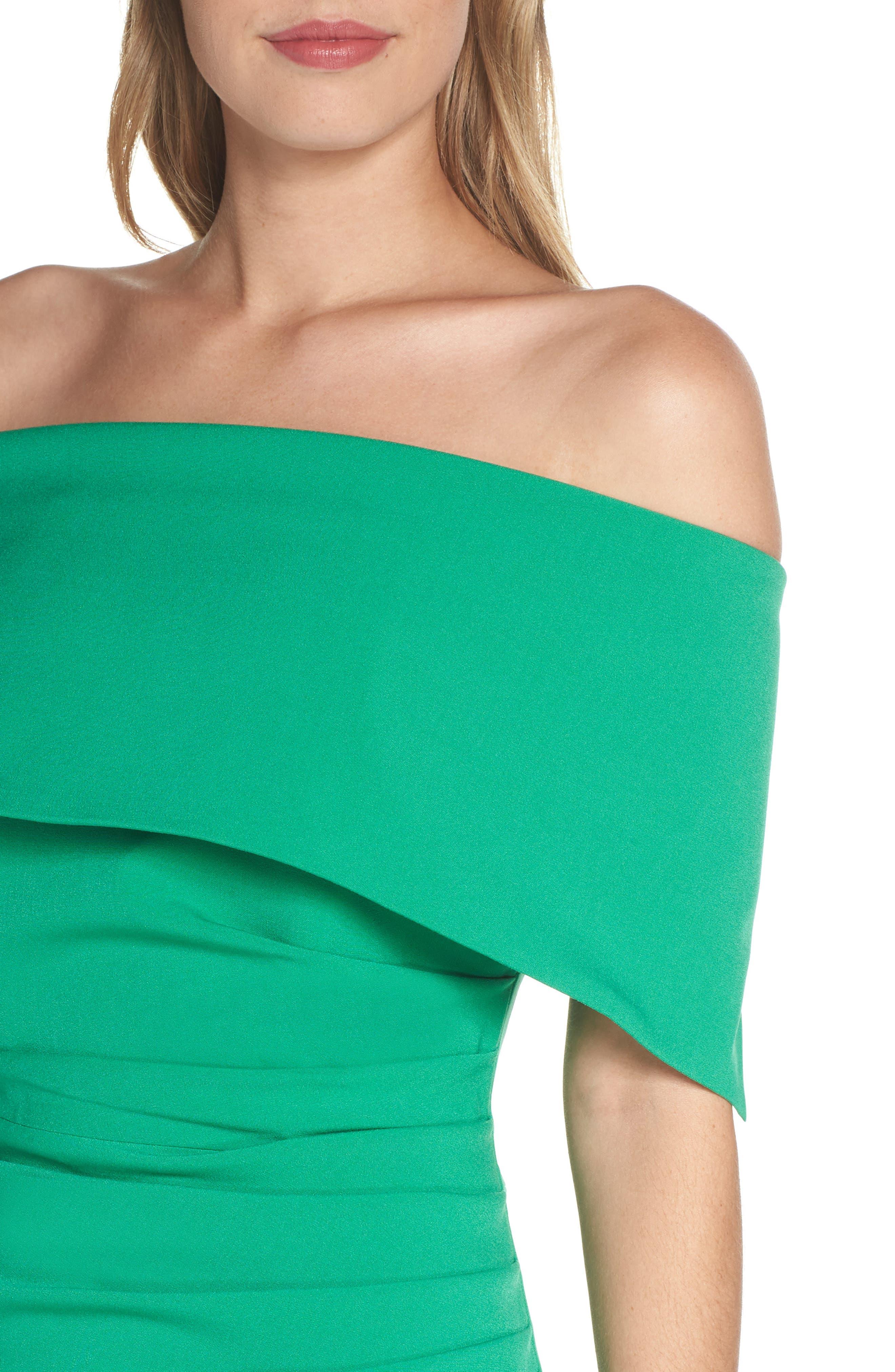 ,                             Popover Midi Dress,                             Alternate thumbnail 5, color,                             GREEN