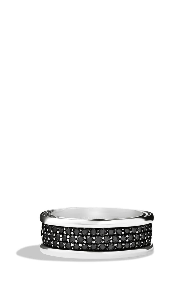 DAVID YURMAN 'Streamline' Band Ring with Black Diamonds, Main, color, BLACK DIAMOND