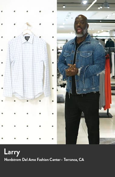 Tech Slim Fit Check Button-Up Shirt, sales video thumbnail