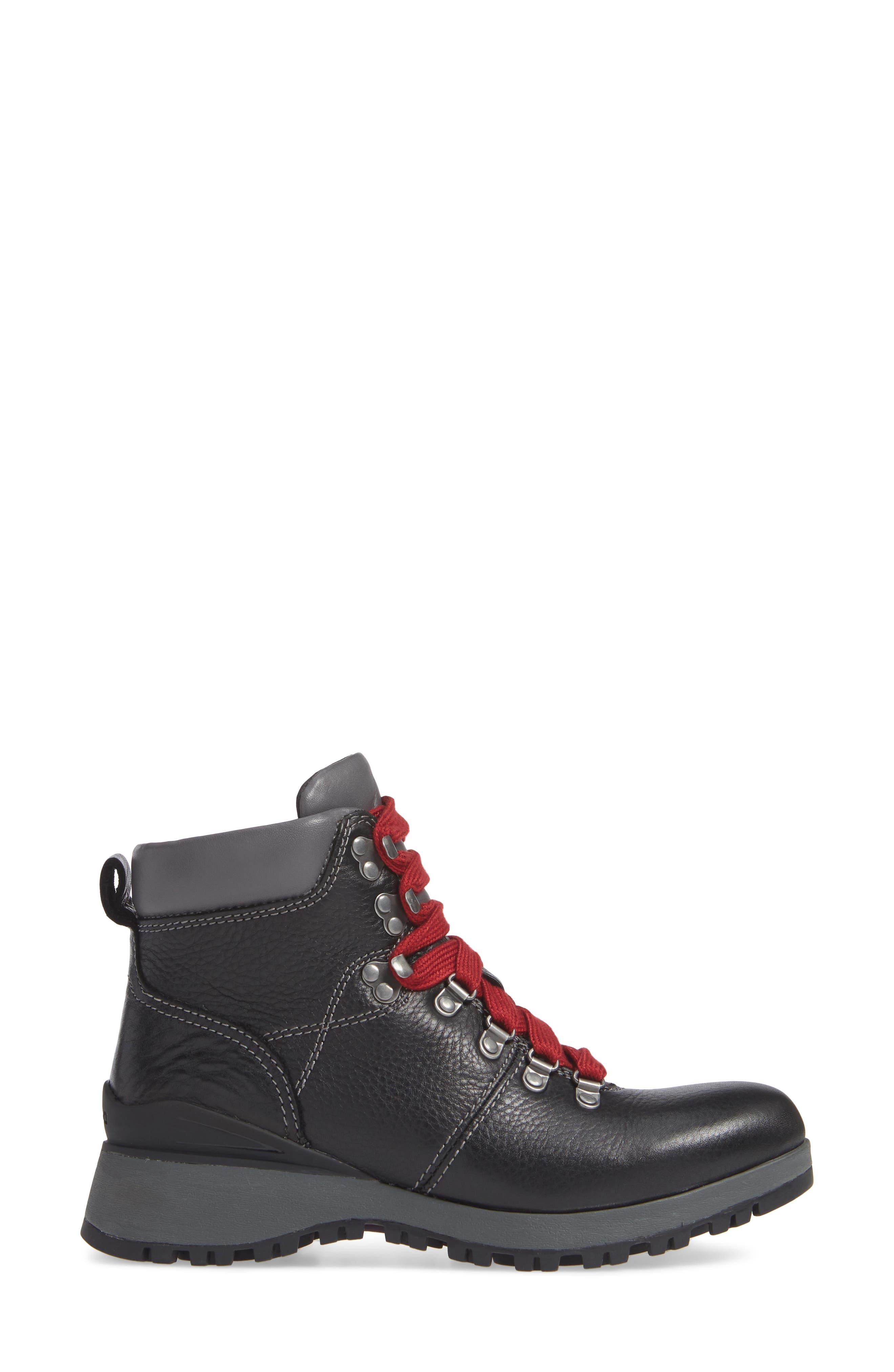 ,                             Dalton Lace-Up Waterproof Boot,                             Alternate thumbnail 3, color,                             BLACK LEATHER