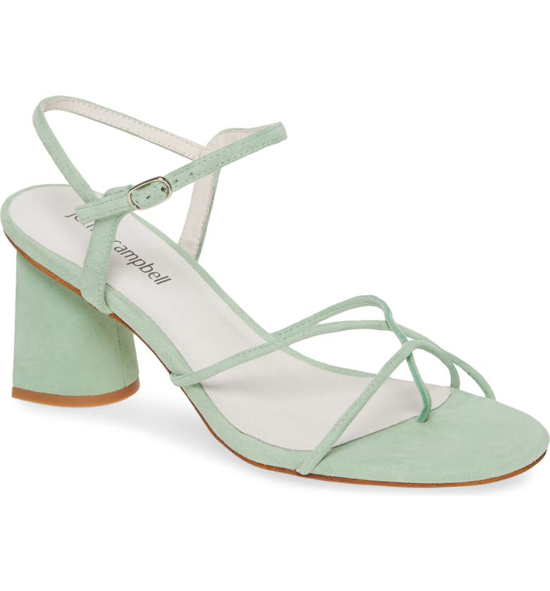 JEFFREY CAMPBELL Yanyu Strappy Sandal, Main, color, MINT SUEDE